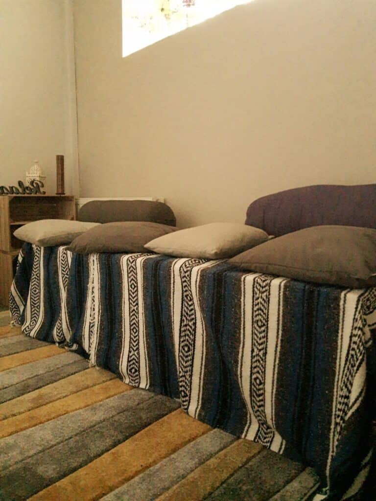 Yoga studio Preston seating area